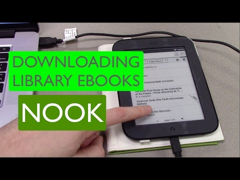 Getting Library eBooks on your Nook - Deerfield Library eTutor