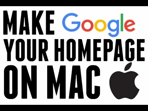 How To Make Google Your Homepage On Mac