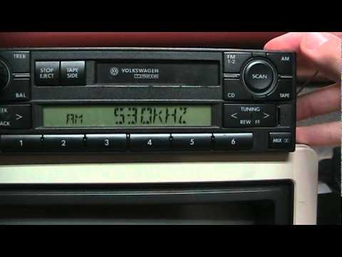 Volkswagen radio tips: installation/removal, entering code, antenna connections