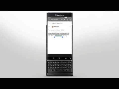 PRIV by BlackBerry - Keyboard and Typing: Official How To Demo