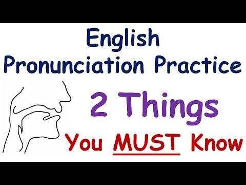 English Pronunciation Practice: