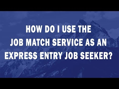 How do I use the Job Match Service as an Express Entry Job Seeker?
