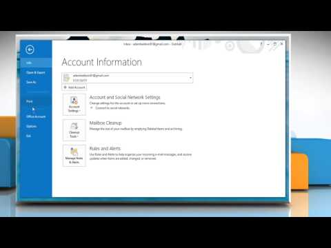 How to configure desktop alerts in Microsoft® Outlook 2013 on Windows® 8.1 PC
