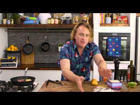 Adrian's Fried Haloumi Burger | Good Chef Bad Chef S8 E8