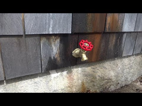 replaced outside sill faucet