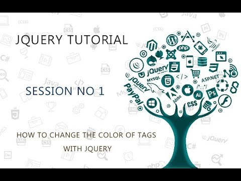 JQUERY TUTORIAL FOR BEGINNERS   1   HOW TO CHANGE THE COLOR OF TAGS WITH JQUERY