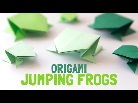 How To Make a Paper Jumping Frog (origami) -EASY