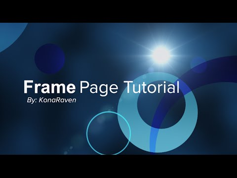 Frame Page Tutorial