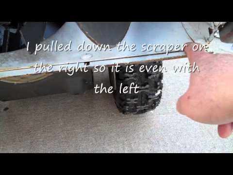 Sears Craftsman 5 hp snow thrower skid and scraper blade adjustment