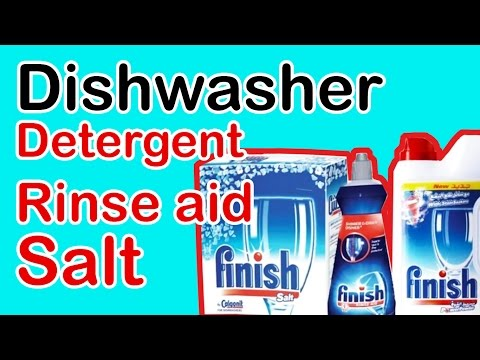 White Whale dishwasher - How to fill salt container + detergent and rinse aid