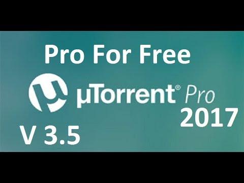 uTorrent Pro 3.5 Build 42606 || Setup+Crack|| 32/64 Bit || 100% Working June 2017
