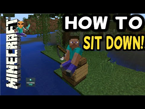 How To Sit Down In Minecraft!!! Ps4 / Ps3 / Xbox ( TUTORIAL ) Ep 602