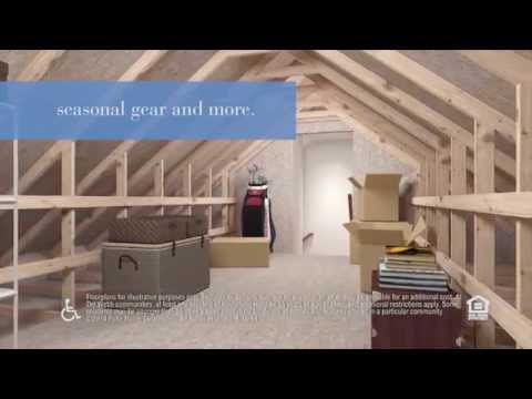 Inspired Designs by Del Webb® Fixed Attic Stairs