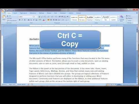 Keyboard Shortcuts in Word 2007.mp4
