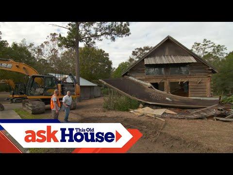 Demolishing a Home Damaged by Hurricane Harvey