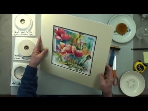 How to mat an artwork.  Hinging and mounting by our professional framer.