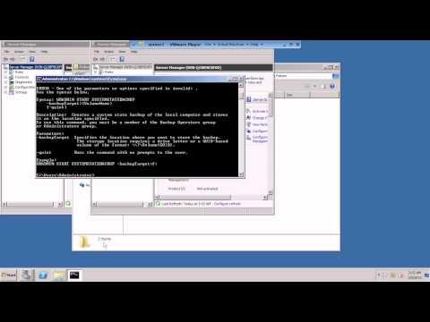 Backup  system state using wbadmin Command .avi
