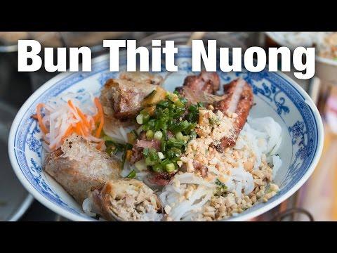 Vietnamese Bun Thit Nuong for Breakfast in Saigon