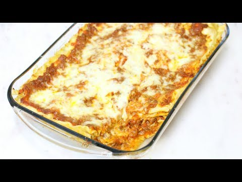 World's Best Lasagna - Meat and Cheese Lasagna Recipe