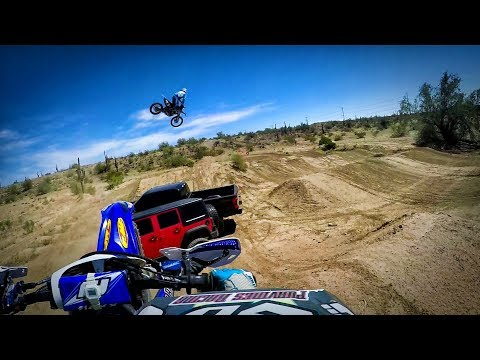 Lifted Trucks with motocross world champion Destry Abbott. Awesome trucks and motocross action!