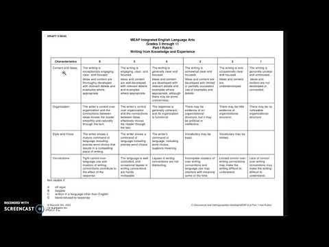 Sample Rubric with Criteria