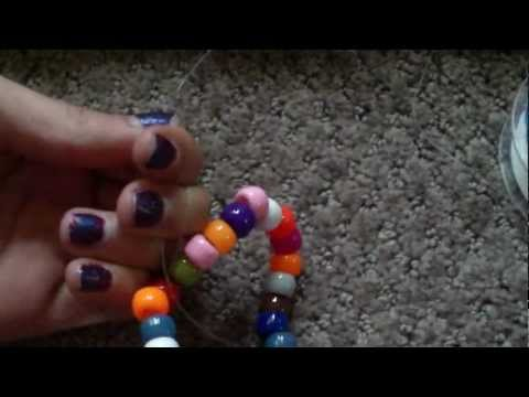 How To Make A Single Pony Bead Bracelet