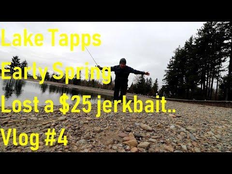 Lake Tapps Bass Fishing Early Spring #2 VLOGish