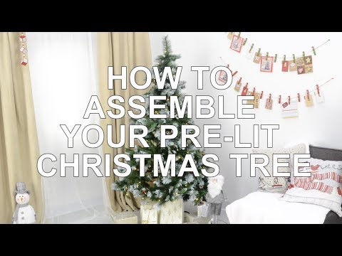 How To | Assemble your Pre-Lit Christmas Tree