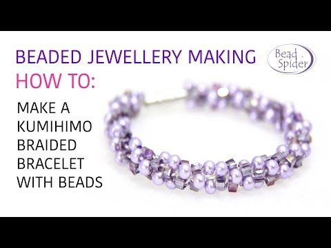 How To Make A Kumihimo Braided Necklace or Bracelet With Beads