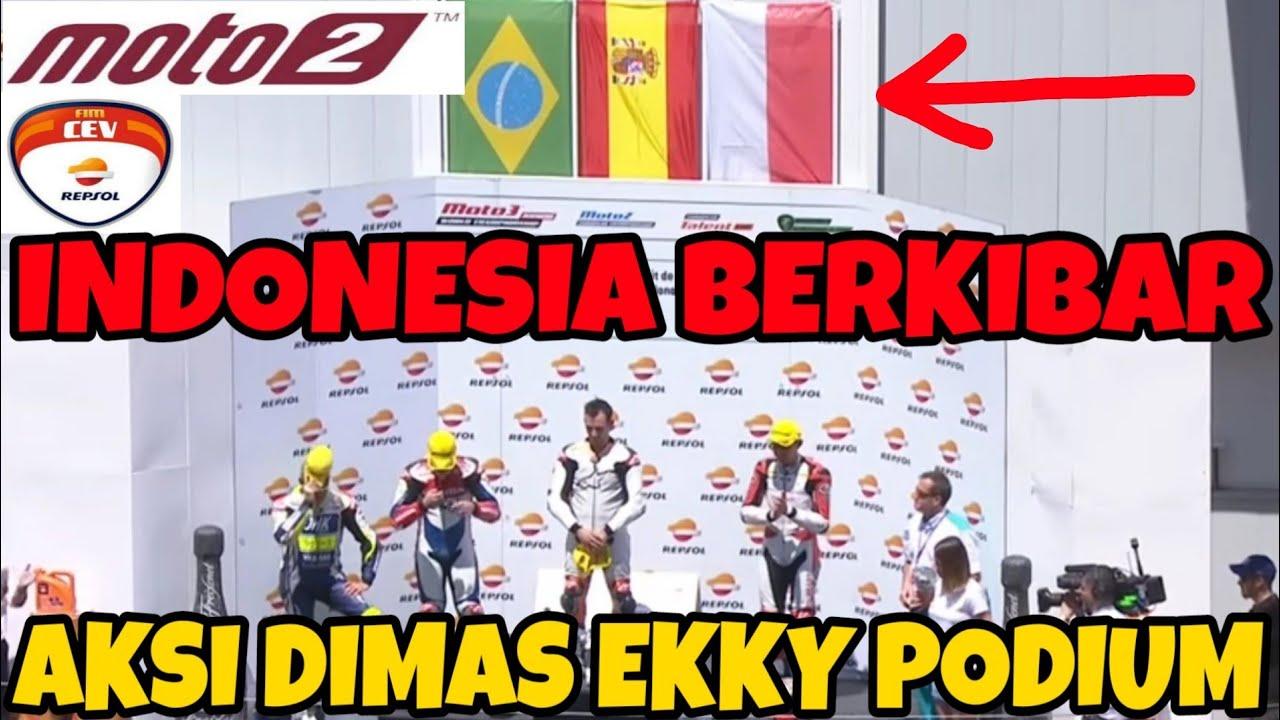 FLASHBACK - Aksi Dimas Ekky Fim Cev Moto2 PODIUM 🇮🇩