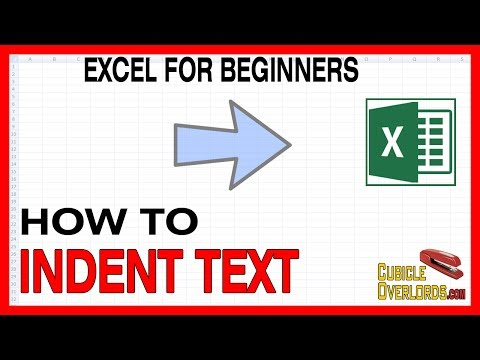 How to indent text in Excel - Microsoft Excel for Beginners