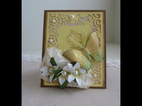 Spellbinders Tudor Rose Card