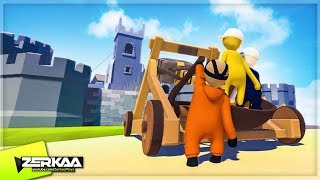 CATAPULTING INTO THE CASTLE! (Human Fall Flat)