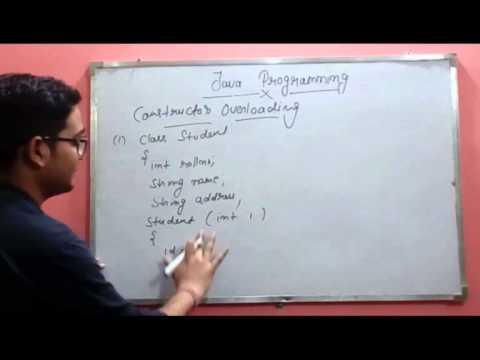 Constructor overloading in java (MCS-024) By Sarvesh Gupta