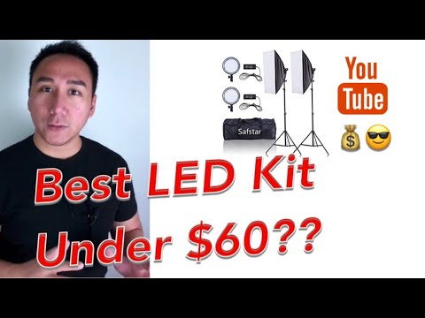 BEST CHEAP ADJUSTABLE LED LIGHTING KIT From Amazon | Safstar / Emart | Best Budget Continuous Light