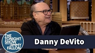 Jimmy Shocks Danny Devito With A Vintage Still Of Him From A 70s West
