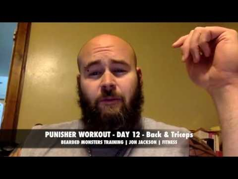 WIDE BACK & BIG TRICEPS Day 12 - PUNISHER WORKOUT - Back & TRICEPS