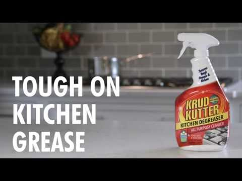Remove Tough Kitchen Grease & Grime with Krud Kutter!