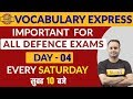 Download  Vocabulary Express || Important for all Defence Exams || Every Saturday || By Sanjeev Sir || Day-4 MP3,3GP,MP4