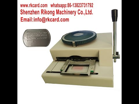 Dog tag(Military ID tags) embossing machine