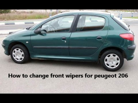 How to change front wipers for peugeot 206