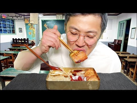OLD KOREAN SCHOOL CLASS THEMED MUKBANG