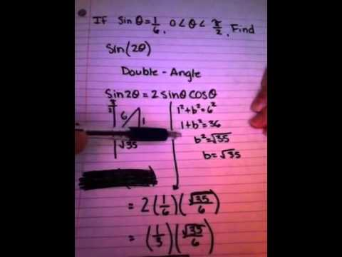 How to find the exact value of sin(2x) if sinx is given