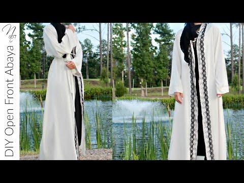 Nadira037 | DIY | Open Front Abaya  | Maxi Cardigan | Kimono