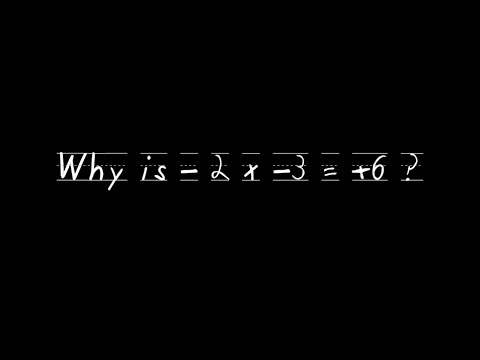 Negative times a Negative Equals Positive. Why? - Maths Tricks #5