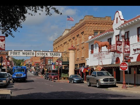 Drivng Fort Worth Stockyards, Texas 2018