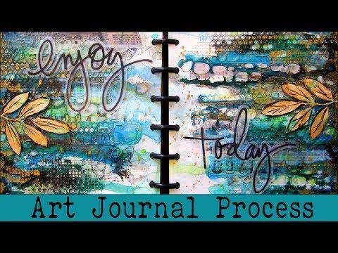 Art Journal Journal Process   Beginners Art Journaling   How To Art Journal using Washi Tape