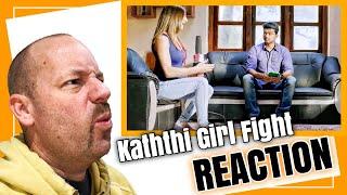 Kaththti Girl Fight Scene REACTION by American | Vijay