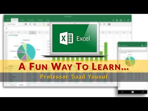Enter Data and Merge Cells | Excel 2016