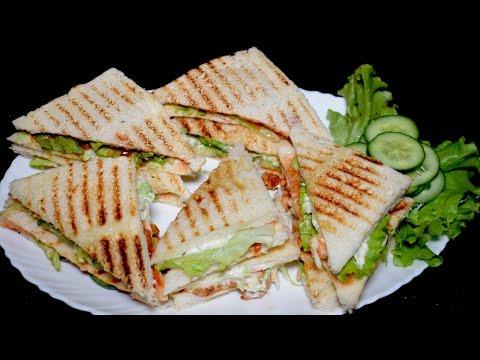 Chicken Sandwich Recipe - BBQ Chicken Club Sandwich - Kids Lunch Box Idea - Breakfast Recipe